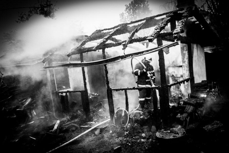 Požár kůlny v Háji ve Slezsku