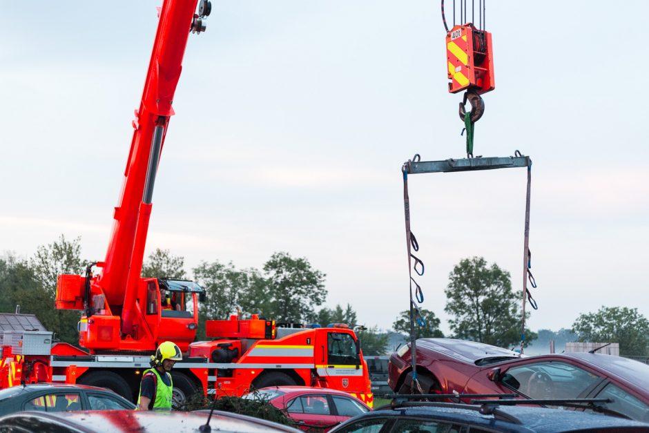 Pád stromu na osobní automobily v Mošnově
